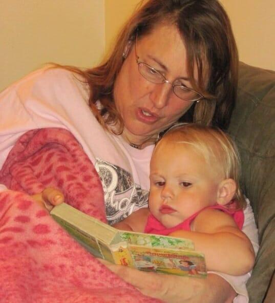 Sherri reads with Serena